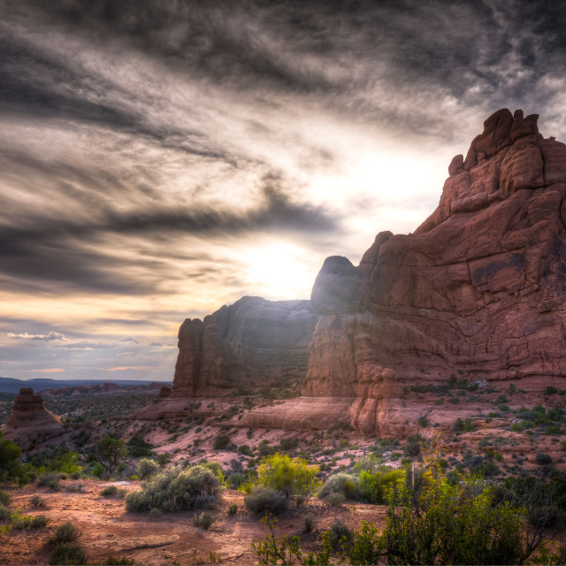 """Arches National Park in Utah"" stock image"