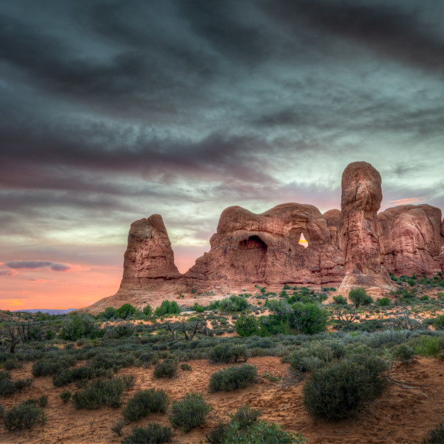 """Arches National Park at Sunset"" stock image"