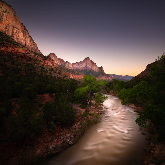 """Zion National Park During Late Evening"" stock image"