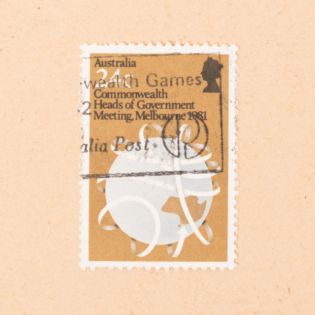 """""""AUSTRALIA - CIRCA 1981: A stamp printed in Australia shows an image of the..."""" stock image"""