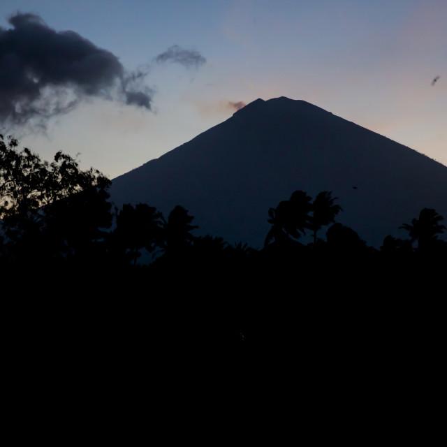 """Volcano Agung V"" stock image"