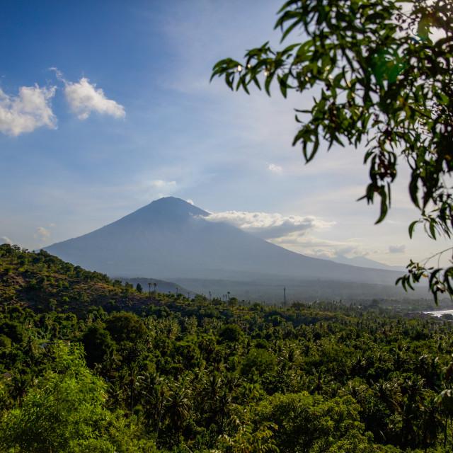"""Volcano Agung I"" stock image"