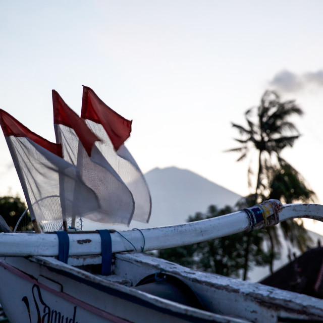 """Volcano Agung IV"" stock image"
