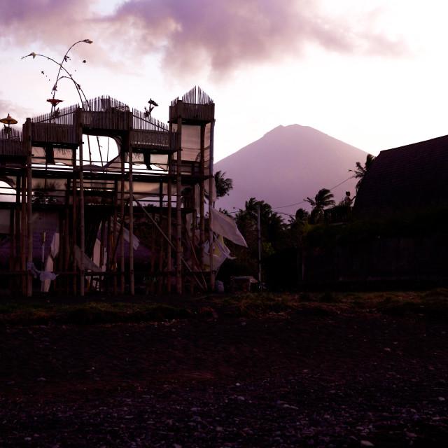 """Volcano Agung II"" stock image"