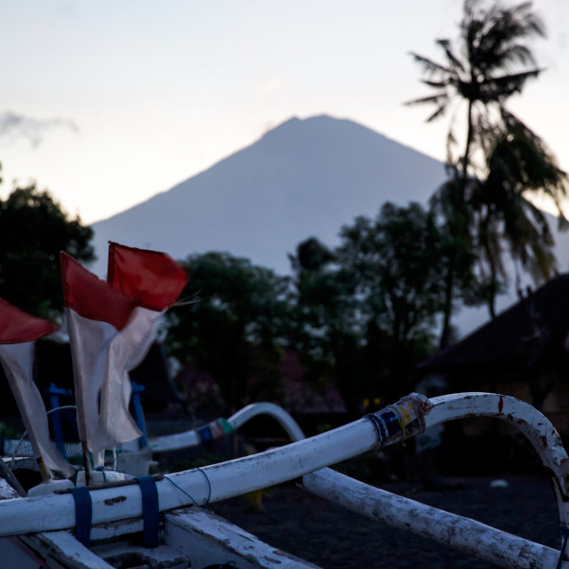 """Volcano Agung III"" stock image"