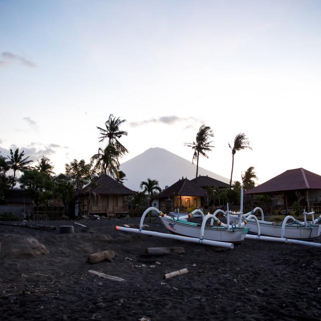 """Volcano Agung VII"" stock image"