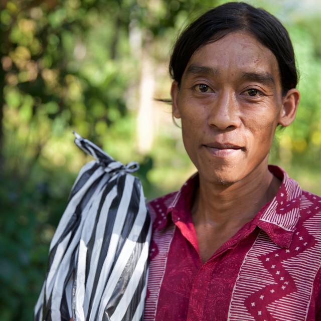 """""""People of Bali XX"""" stock image"""