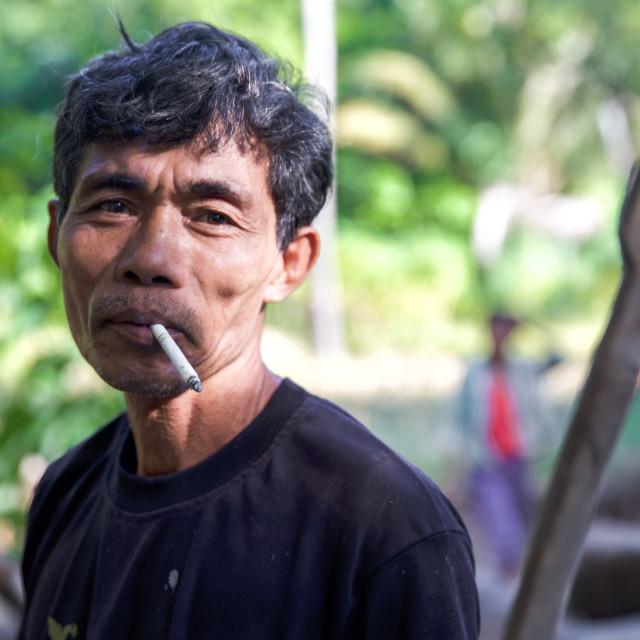 """""""People of Bali XXVI"""" stock image"""