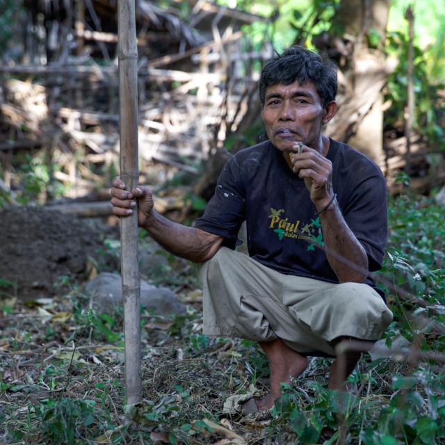 """""""People of Bali XXVIII"""" stock image"""