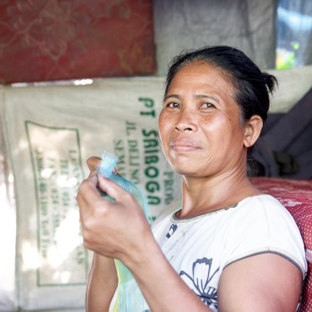 """""""People of Bali XXX"""" stock image"""