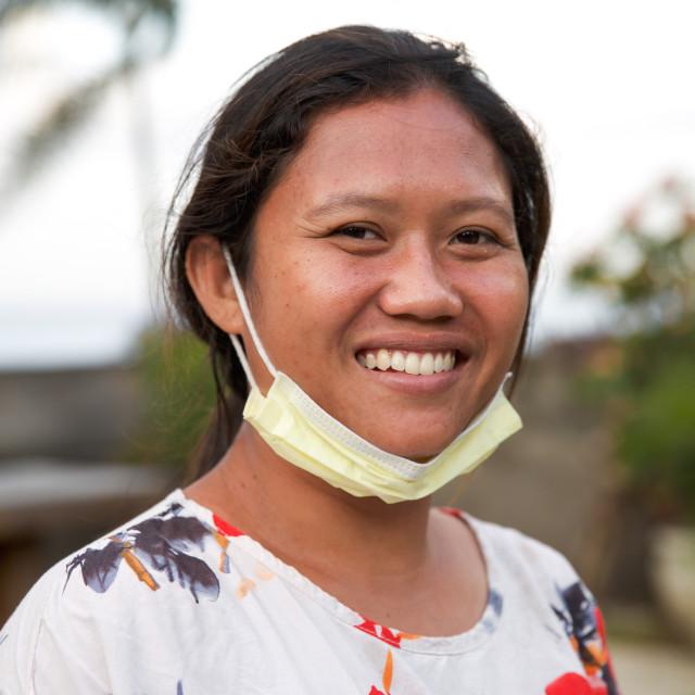 """""""People of Bali XLIII"""" stock image"""