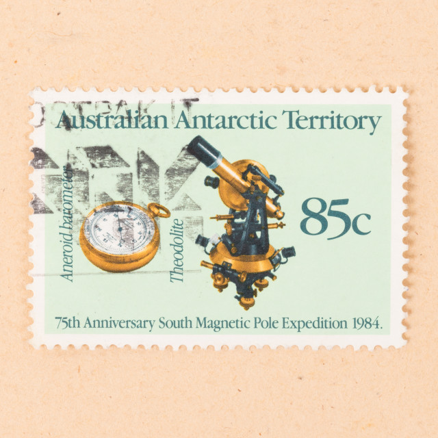 """""""AUSTRALIA - CIRCA 1990: A stamp printed in Australia shows images of a..."""" stock image"""