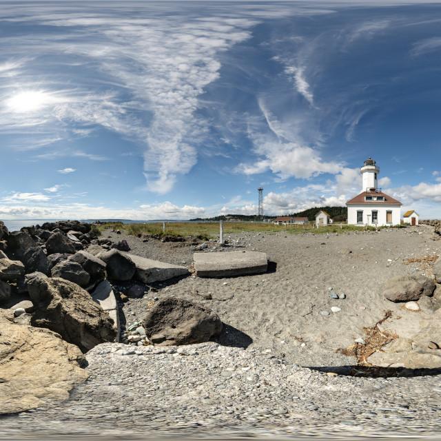 """Point Wilson Lighthouse"" stock image"