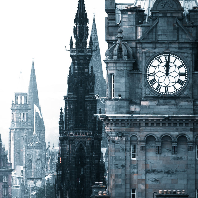 """Edinburgh Time"" stock image"
