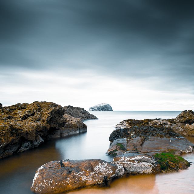"""The Bass Rock, Scotland"" stock image"