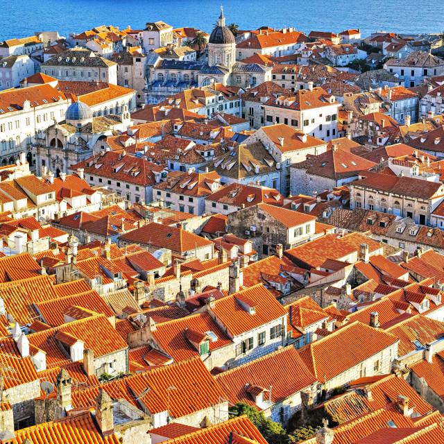 """""""Old town of Dubrovnik"""" stock image"""