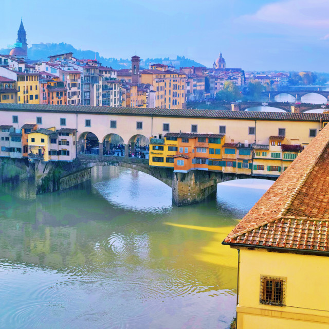 """""""Ponte Vecchio at the City of Florence"""" stock image"""