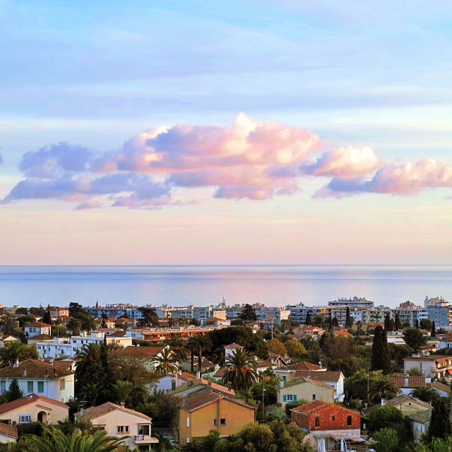 """Cagnes sur Mer in the Provence"" stock image"