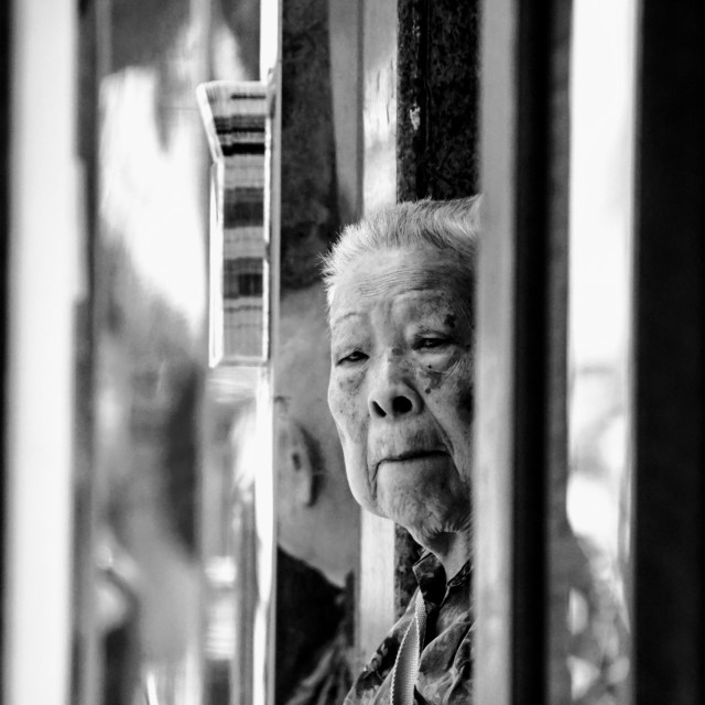 """""""Old lady"""" stock image"""