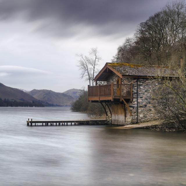 """""""The Dukes Boathouse"""" stock image"""