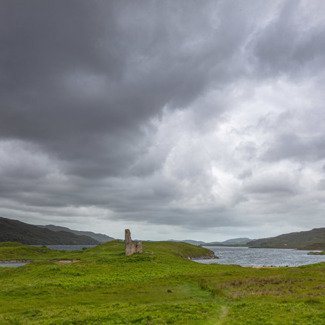 """""""Ardveck Castle, Scotland"""" stock image"""