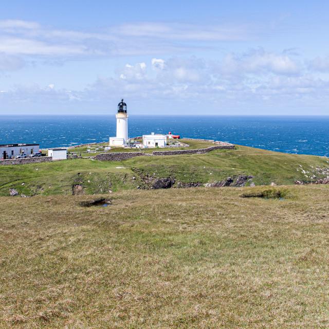 """Cape Wrath Lighthouse"" stock image"