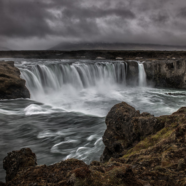 """Godafoss waterfall in Iceland"" stock image"