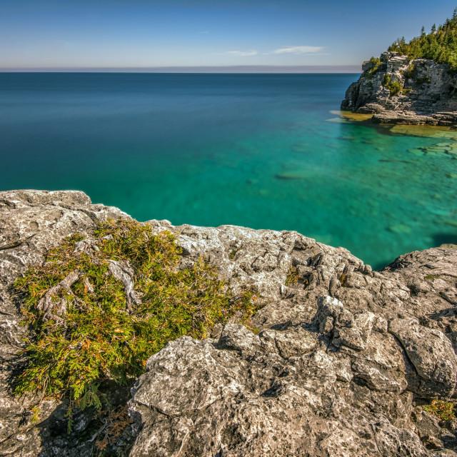 """Indian Head Cove, Bruce Peninsula Provincial Park, Tobermory Ontario"" stock image"