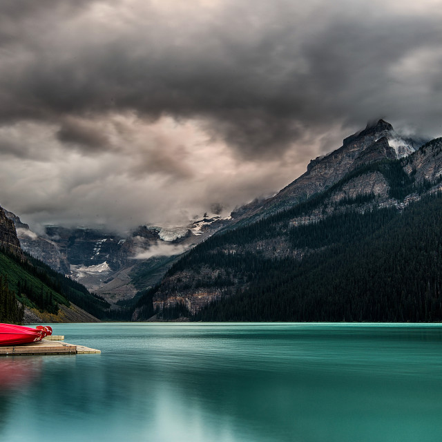 """Lake Louise, Banff Alberta"" stock image"