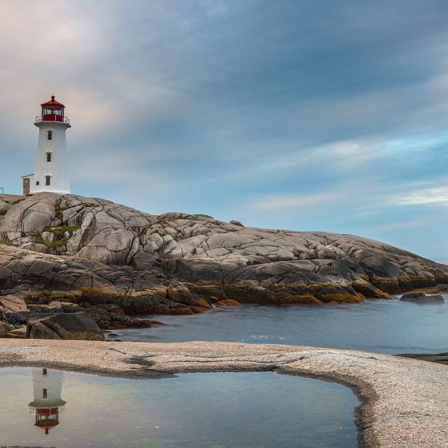 """""""Peggy's cove, Nova Scotia at sunrise"""" stock image"""