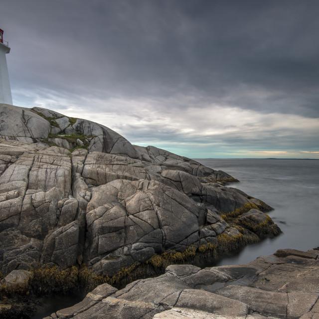 """""""Peggy's Cove, Nova Scotia"""" stock image"""