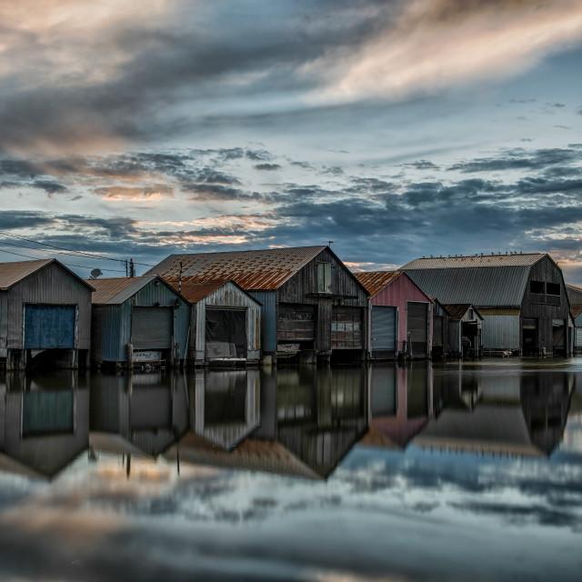 """Port Rowan Sunrise"" stock image"
