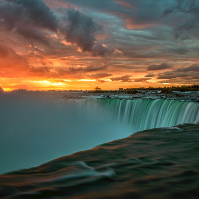 """Sunrise at Niagara Falls, Ontario"" stock image"