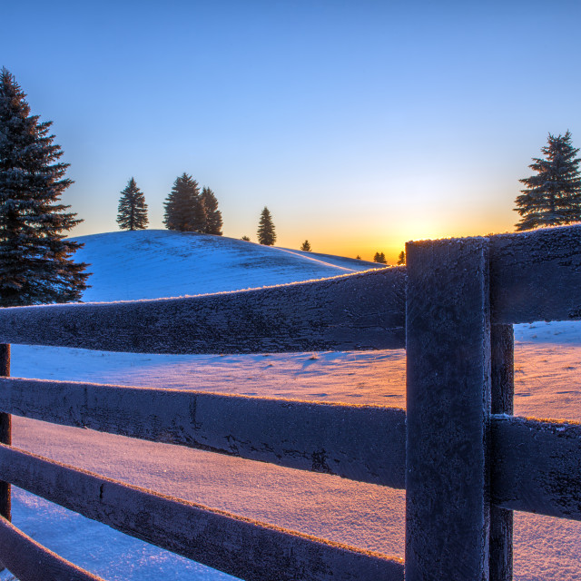 """Sunrise in Caledon, Ontario"" stock image"
