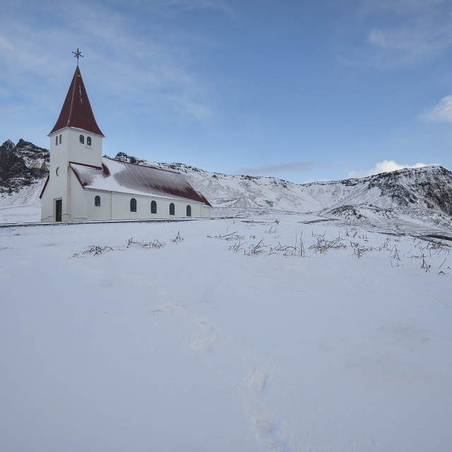 """Vik Church, Iceland"" stock image"