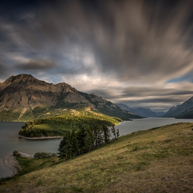 """Waterton Lakes National Park, Alberta"" stock image"