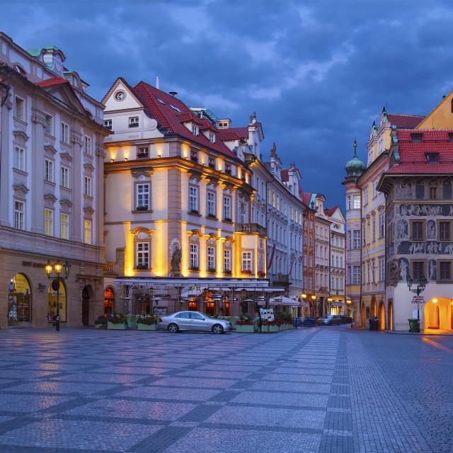"""""""Old Town Square (Staroměstské náměstí) in the morning, Prague"""" stock image"""