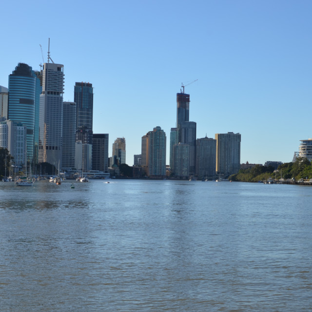 """Brisbane from the river."" stock image"
