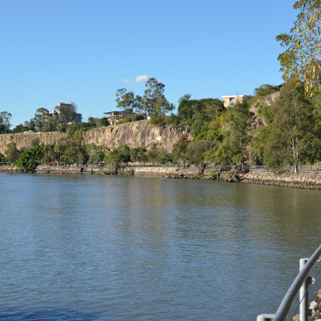 """Kangaroo Point cliffs"" stock image"