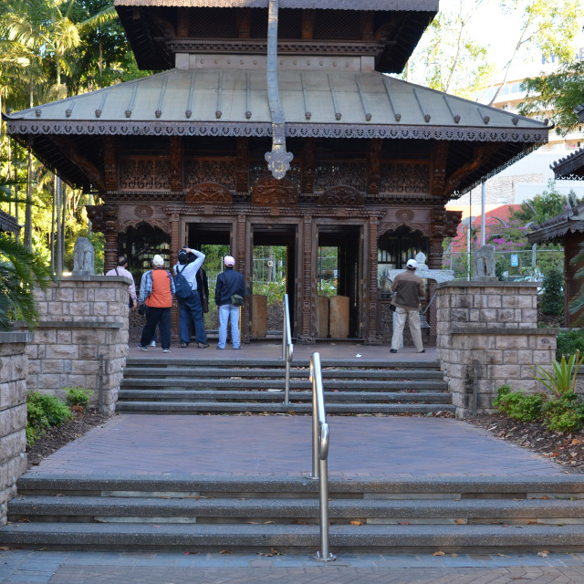 """Nepalese Pagoda"" stock image"