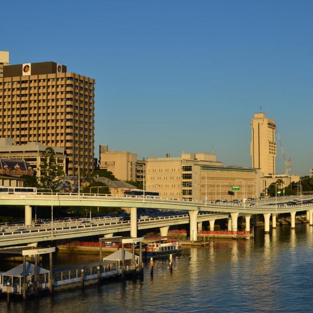 """""""Riverside Expressway"""" stock image"""