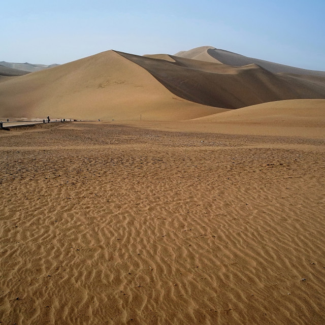 """Echoing-Sand Mountain, Dunhuang, China"" stock image"