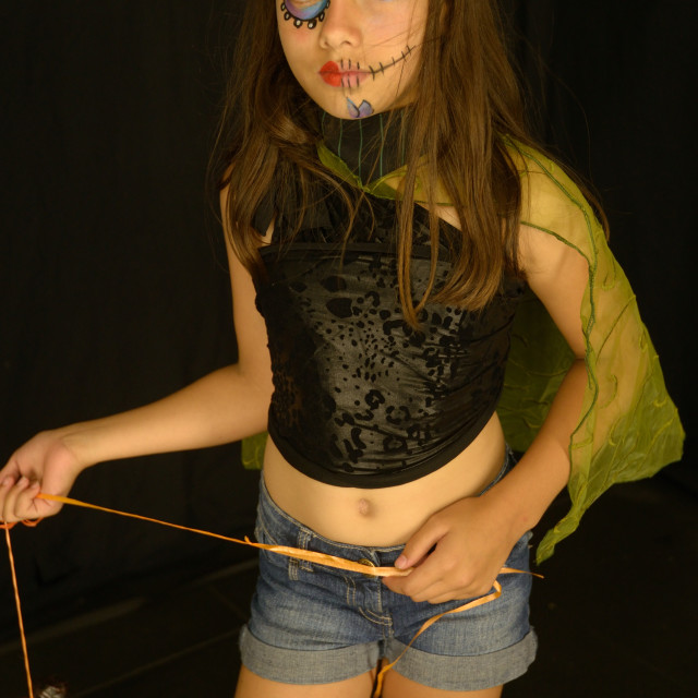 """""""Halloween Girl"""" stock image"""
