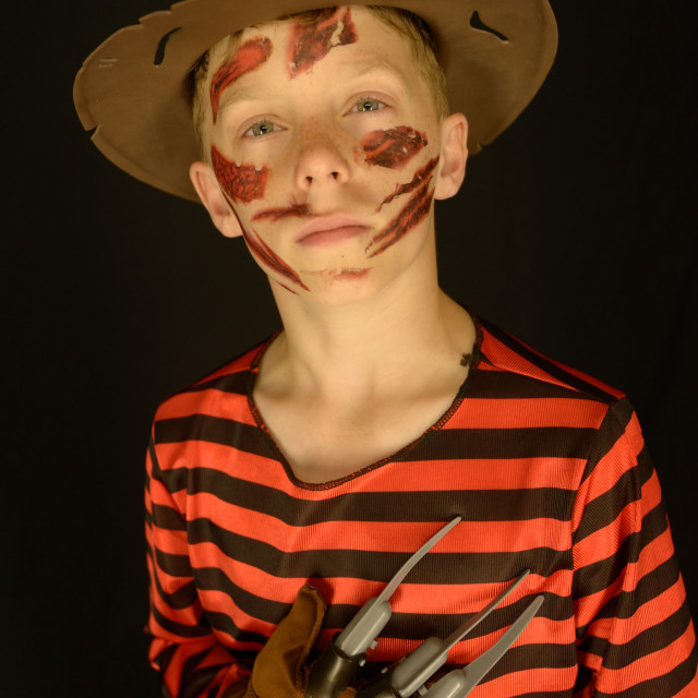 """Costumed Boy"" stock image"