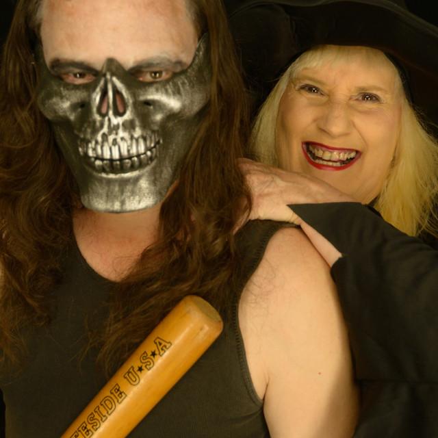 """""""Halloween Couple"""" stock image"""