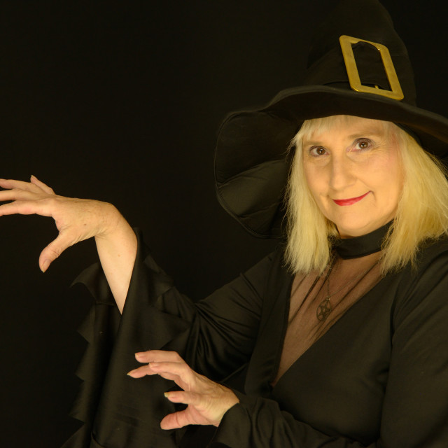 """""""Witch up Close"""" stock image"""