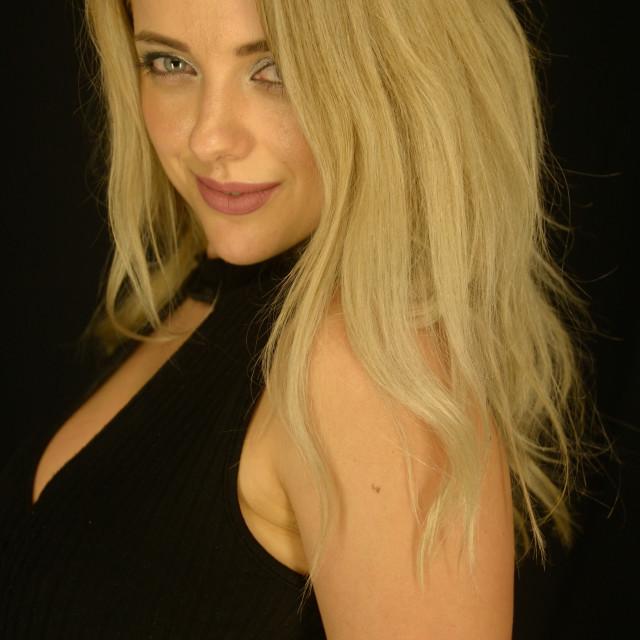 """Profile Blond"" stock image"