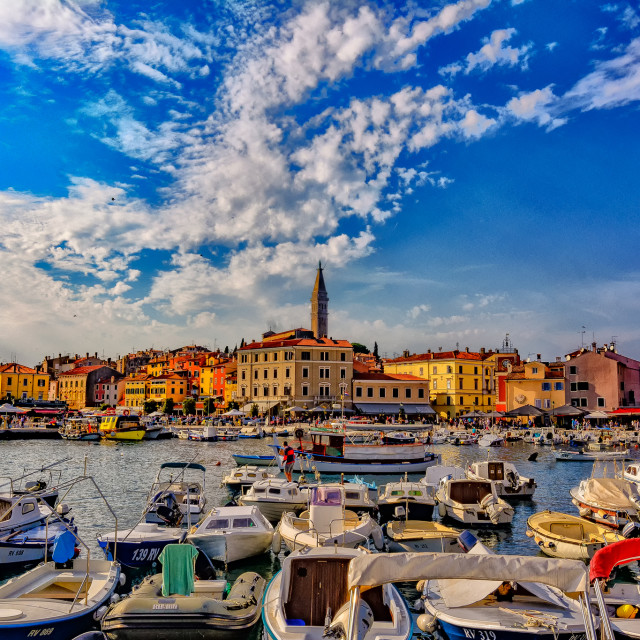 """""""Afternoom in Rovinj"""" stock image"""