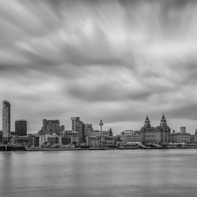 """Liverpool Waterfront Panoramic"" stock image"