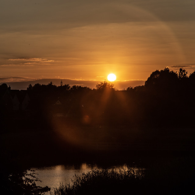 """""""Country Park Sunset"""" stock image"""